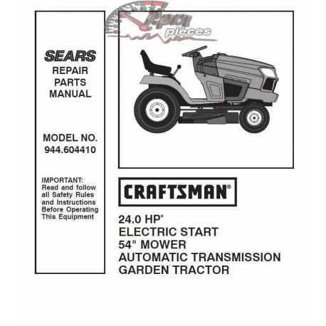 Craftsman Tractor Parts Manual 944.604410