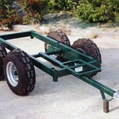 Chariot porte-outils vigne 4 roues larges