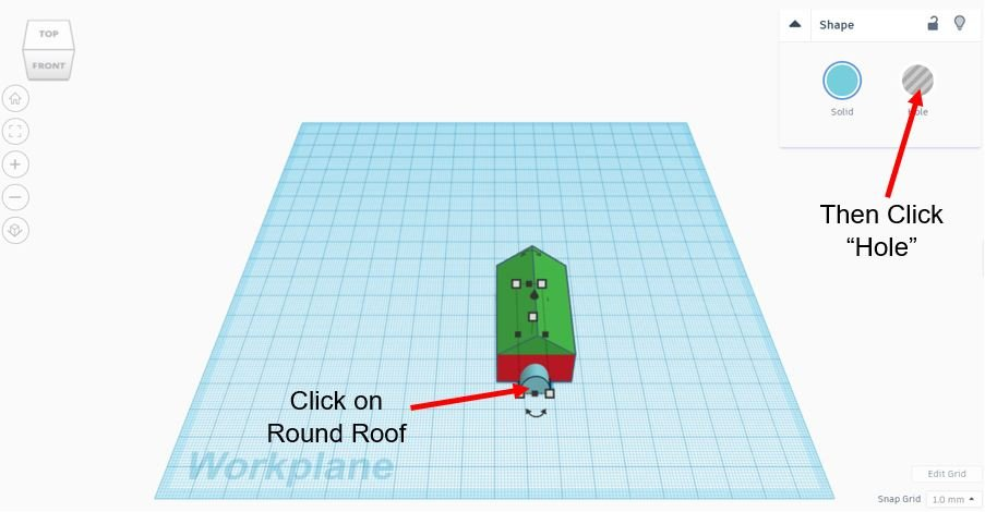 TinkerCAD Tutorial: Change From Solid to Hole