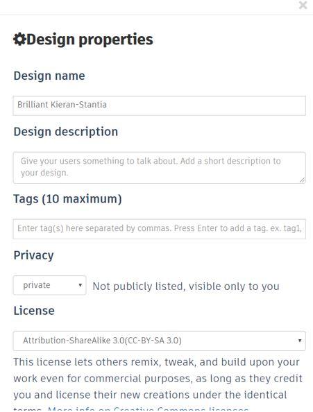 TinkerCAD Tutorial: Design Properties