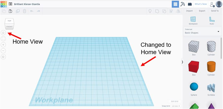 TinkerCAD Tutorial: Home View