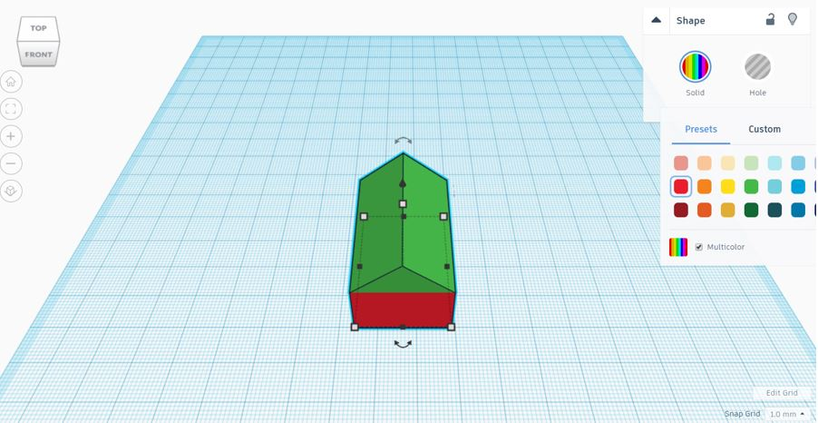 TinkerCAD Tutorial: Shapes Merged but Colour Remains Separated
