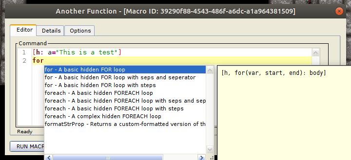 New Macro Editor