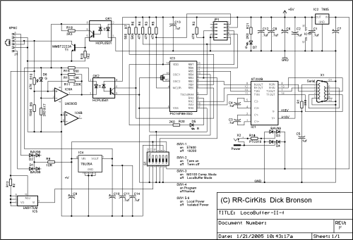 small resolution of schematic notes this new schematic is for the revised version of the locobuffer ii these revisions include extensive internal changes to convert it to smt