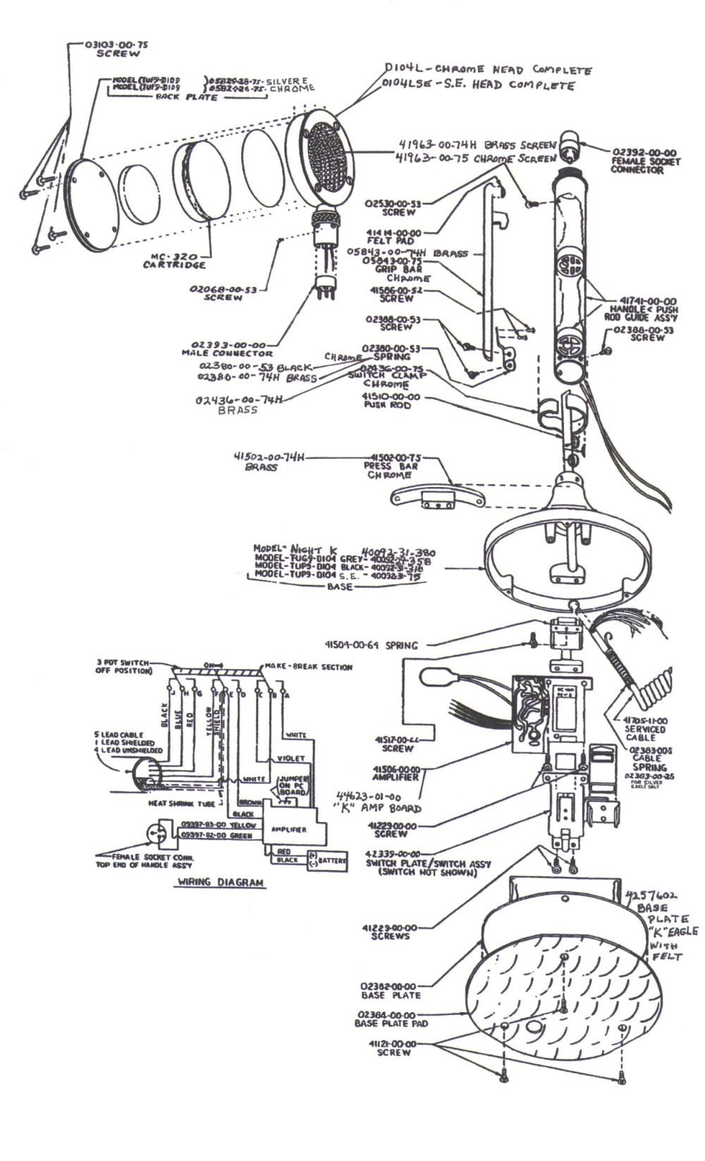 medium resolution of partsforbasemic rh rrcom com astatic 636l mic wiring astatic d 104 switch e r