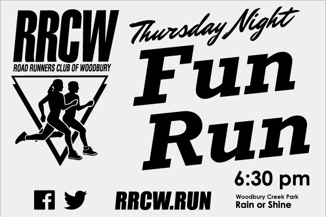 Thursday Night Fun Run 6:30 PM Woodbury Creek Park