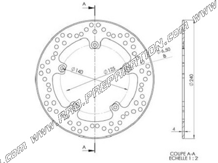 front and rear brake disc Ø240mm NG for GILERA DNA, NEXUS