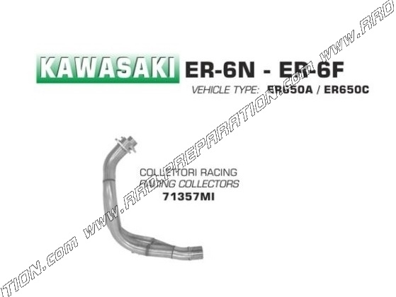 ARROW catalyzed racing exhaust manifold for Kawasaki ER-6N