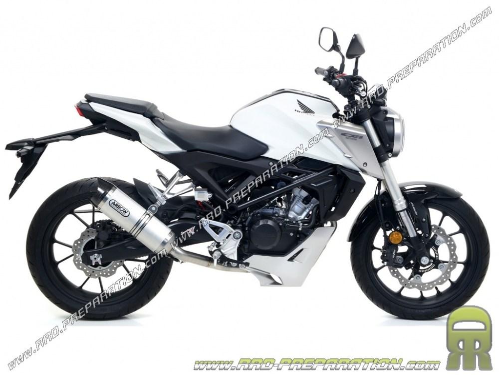 medium resolution of exhaust arrow thunder for motorcycle honda cb 125 r 2018