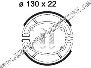 Rear brake shoes Ø130 mm by thickness 22mm AP RACING quad