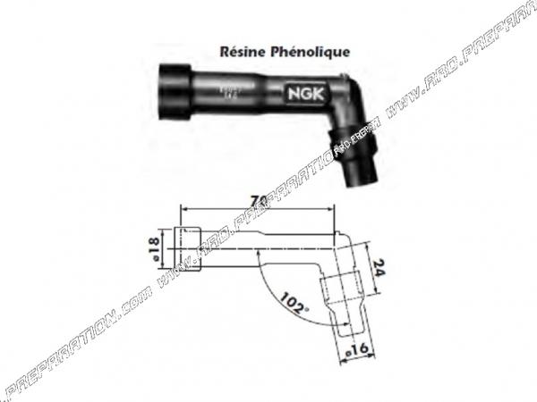 Anti-parasite NGK XB01F pour motos DAELIM VC ADVANCE, VL