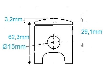 Piston Ø54mm mono-segment pour kit origine et ITALKIT sur