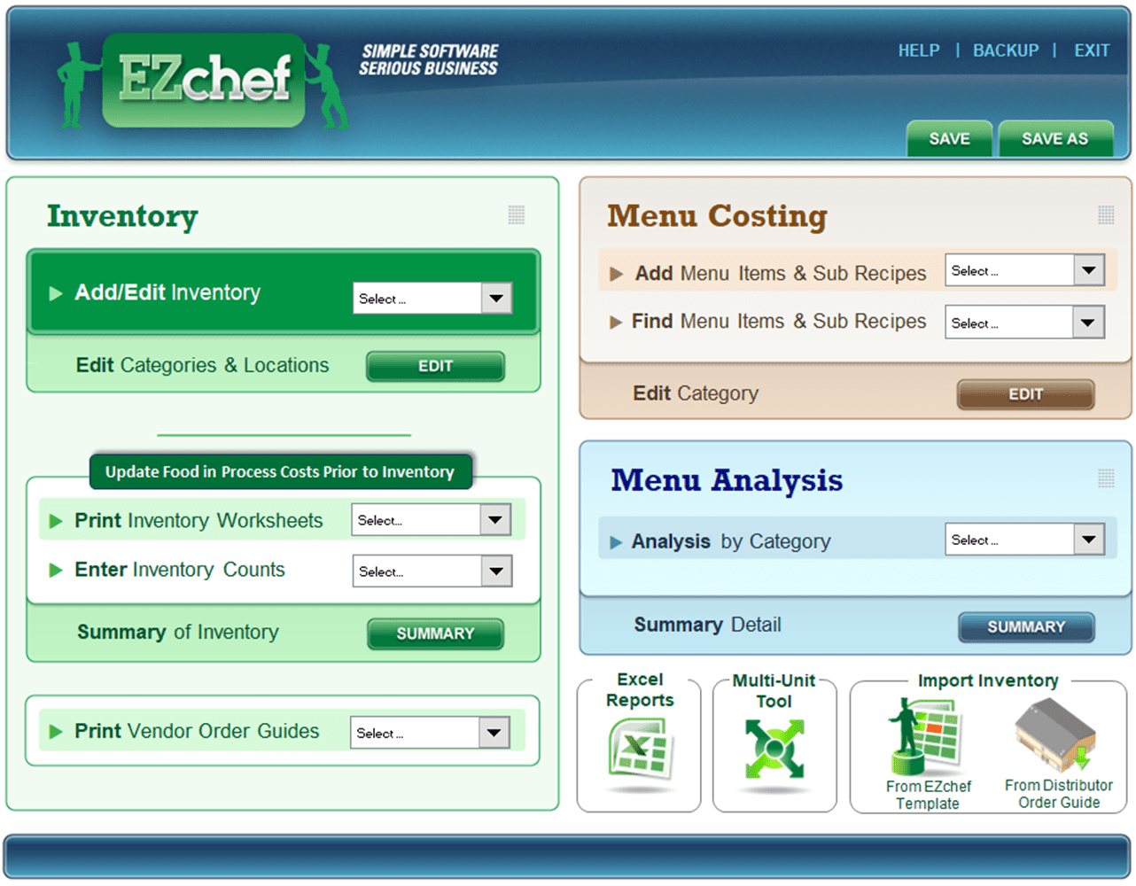 Restaurant Resource Group Ezchef Software Inventory