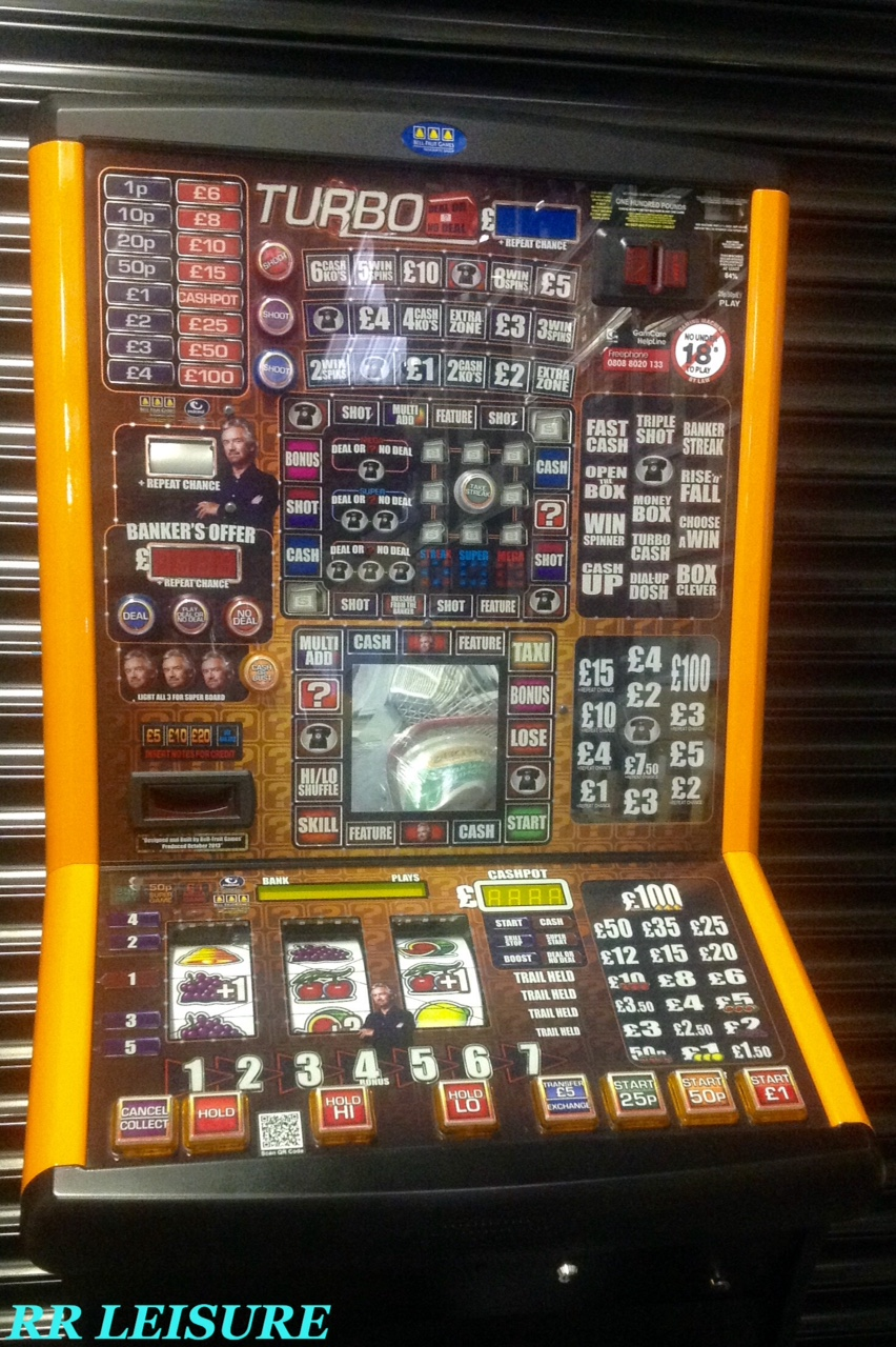 Turbo DOND Fruit Machines Northern Ireland RR Leisure