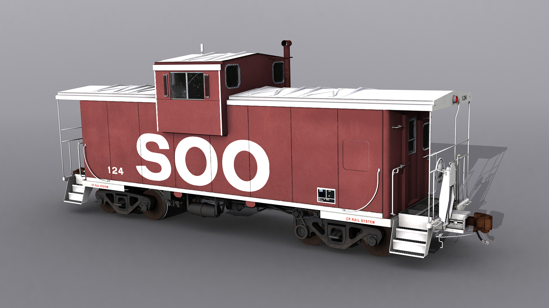 SOO Line and CP Rail Wide Vision Caboose