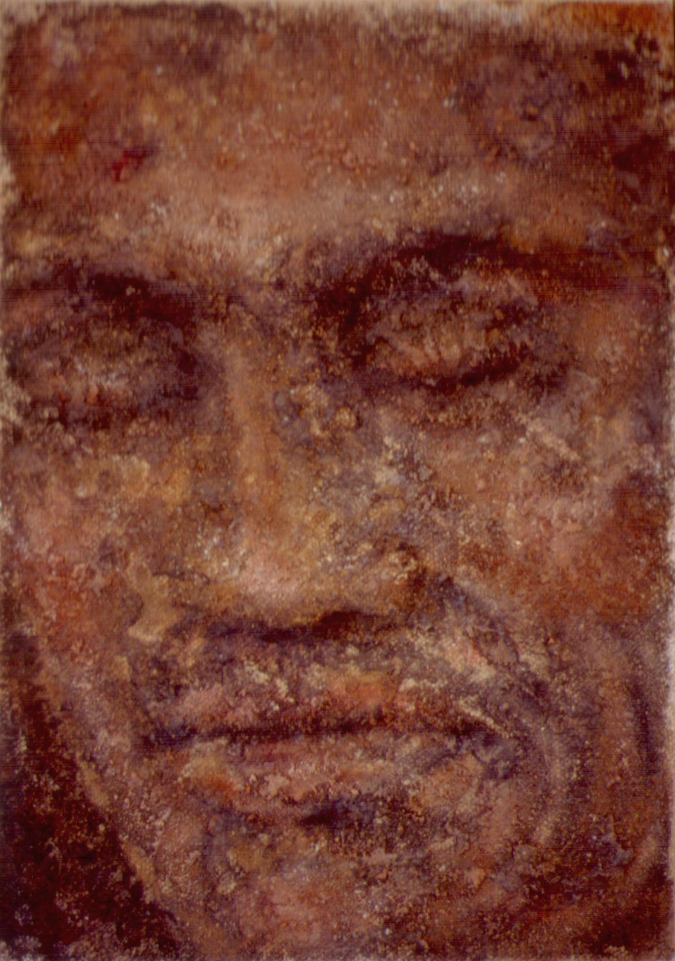 "Bronson - Soil and Acrylic Polymer on Canvas - 9"" x 12"""