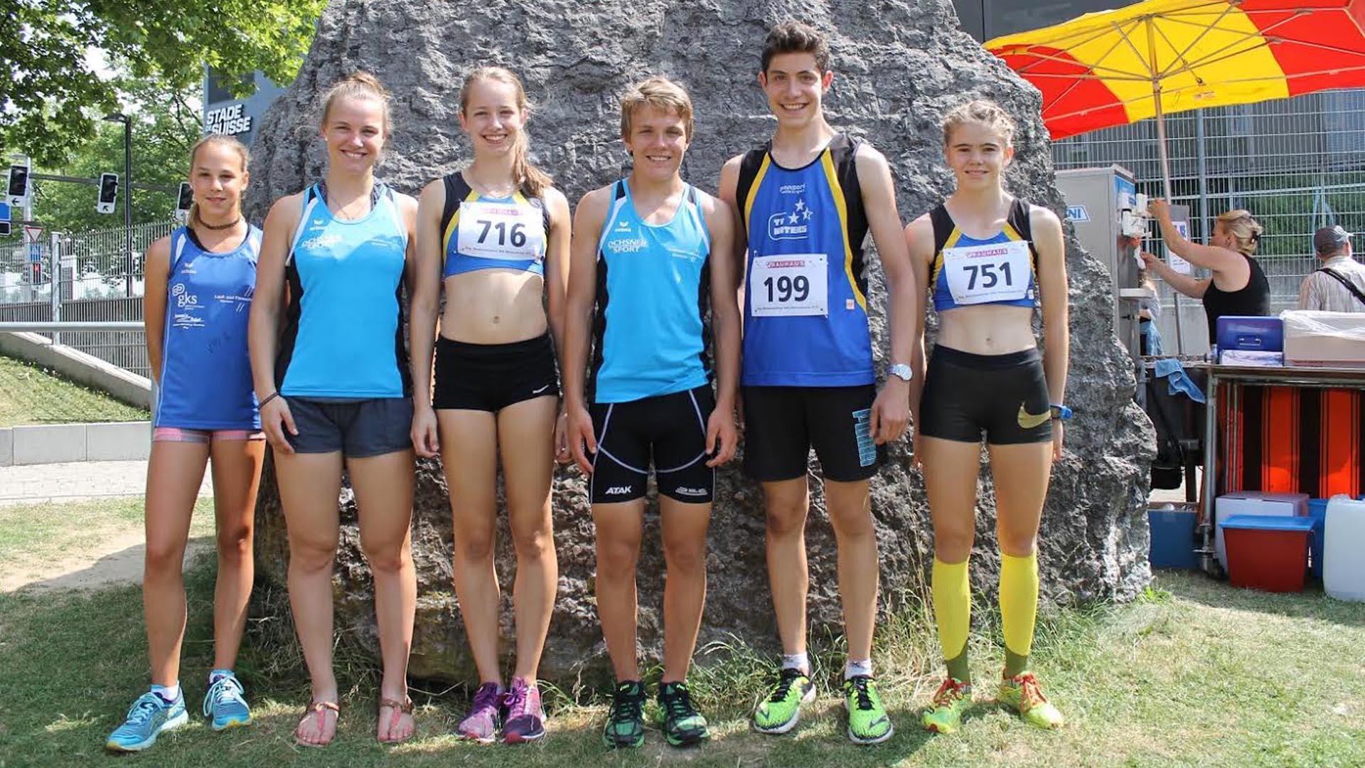 Am diesjhrigen Gemmi Triathlon von Siders bis auf die Gemmi waren Micha Gdel und Maya Chollet