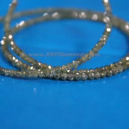 Light Green Faceted Drilled Natural Loose Diamond Beads