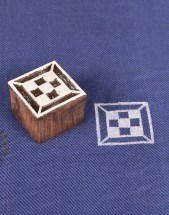 Wooden Printing Stamps Square Shape