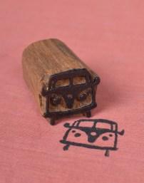 Bus Wooden Printing Blocks