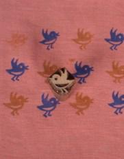 Wooden Fabric Stamps Bird Shape