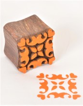 Wooden Fabric Stamps Repeat Pattern Block