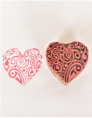 Block Stamps for Fabric Heart Shapes 638