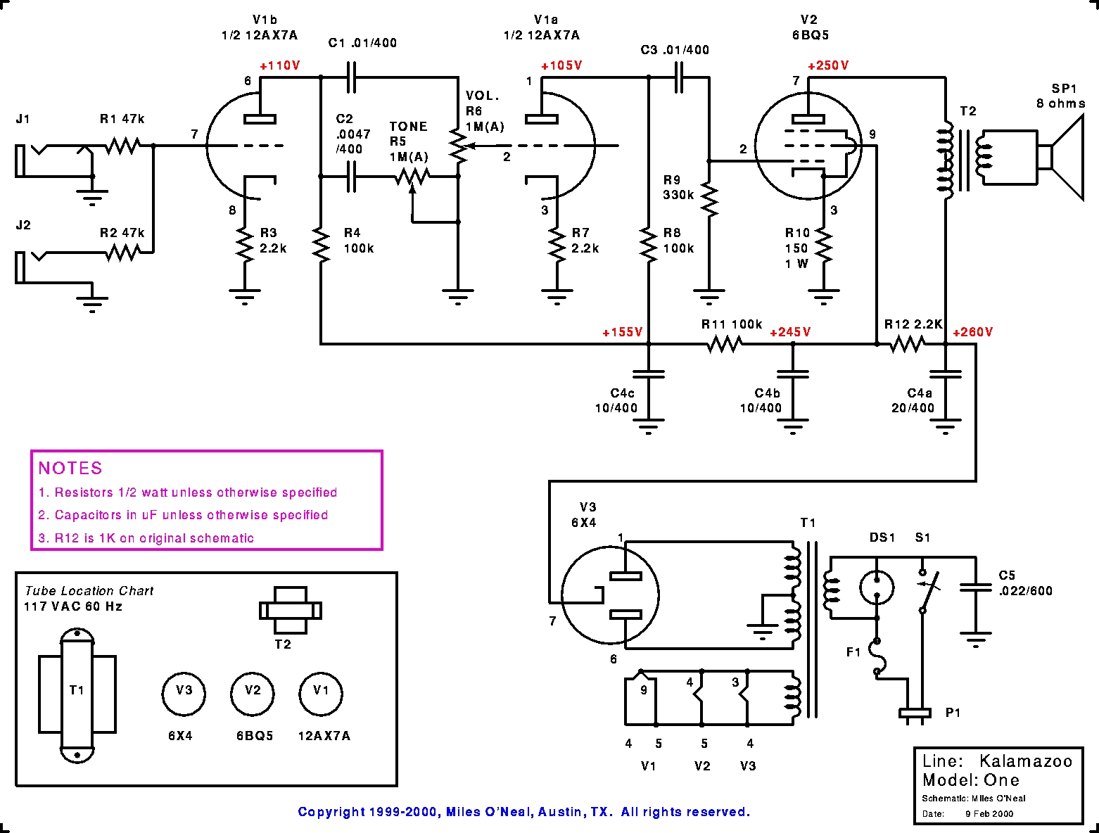 hight resolution of amp schematic