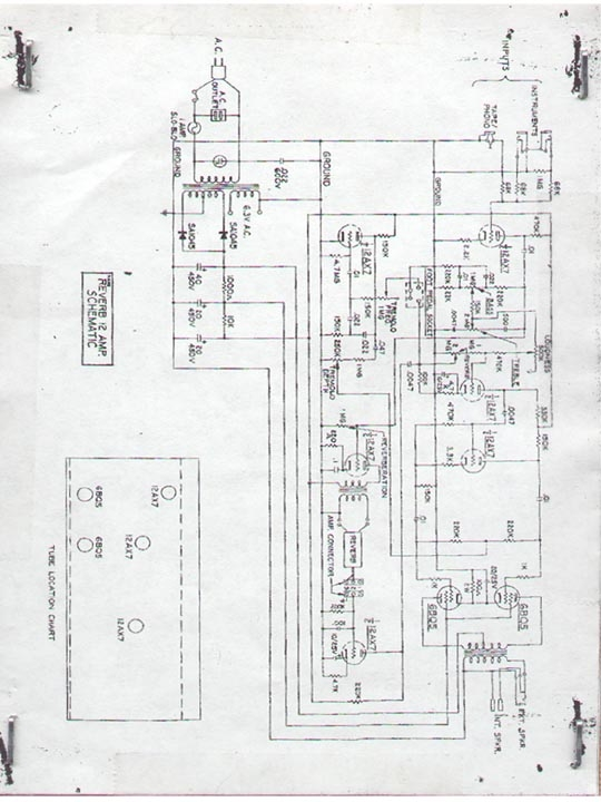 Kalamazoo Amp Field Guide: Reverb 12 Schematic