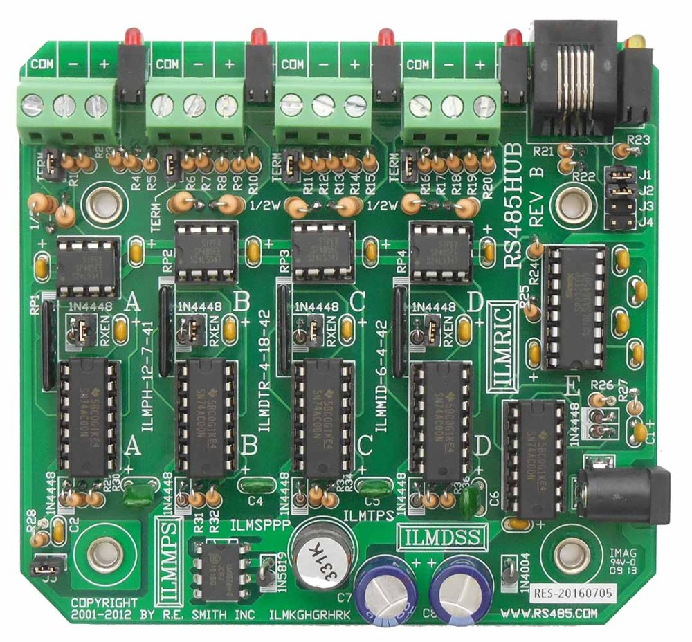 medium resolution of rs485hub 4 port rs485 repeater hub with rs232 port r e smith wiring diagram for rs485 hub