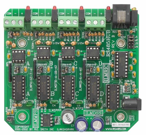 small resolution of rs485hub 4 port rs485 repeater hub with rs232 port r e smith wiring diagram for rs485 hub