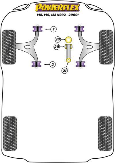 Silentbloc de support moteur (moteur/stabilisateur