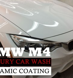 luxury car wash ceramic coating paint protection bmw m4 high end auto detailing [ 1300 x 975 Pixel ]