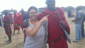 Die Maasai-mark waar beeste verkoop word, is een van die plekke wat op die toer besoek was.
