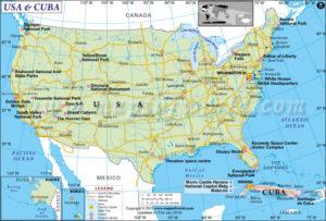 Kuba is baie naby aan Florida, VSA.