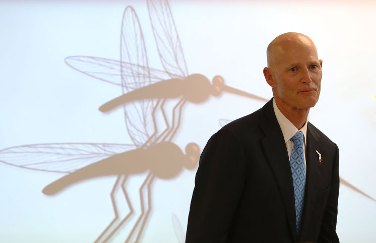 """Rick Scott Has Zika """"Under Control"""" … Before Announcing the First Locally-Transmitted Case Outside South Florida"""