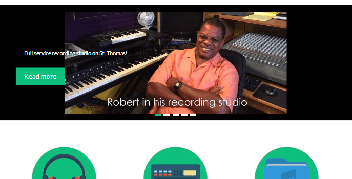 Local music producer and performer Robert Leonard launches new and improved website
