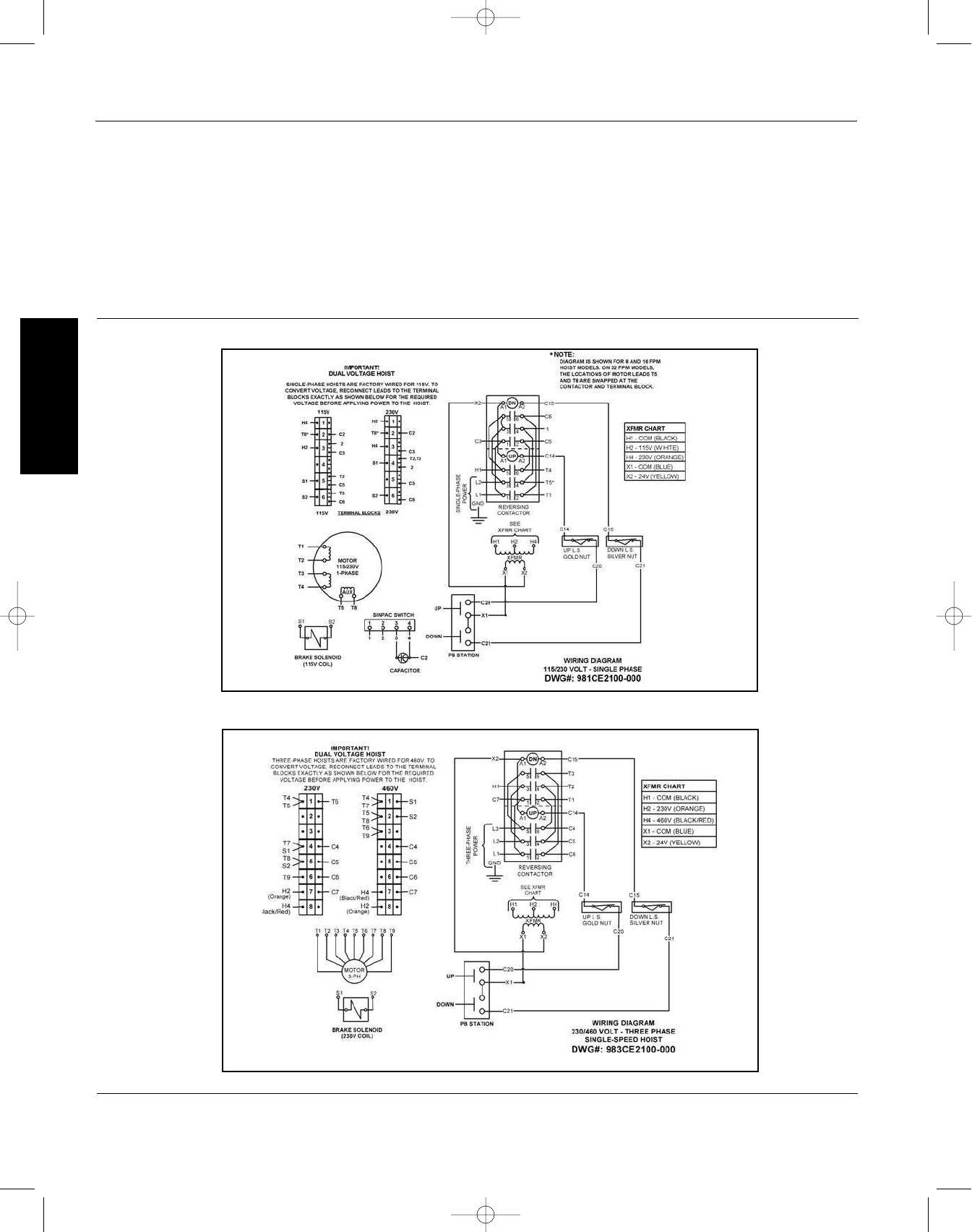 hight resolution of dayton operating instructions and parts manual dayton electric chain hoists