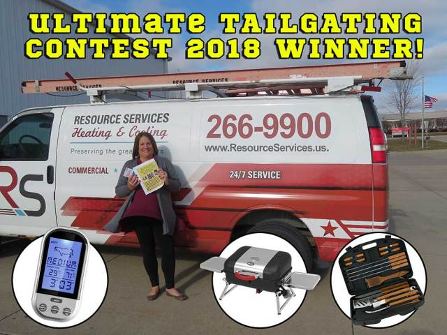 ULTIMATE TAILGATING PARTY contest winner winter 2018