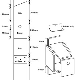 how to cut the wood for your house sparrow nestbox two sides 150 mm [ 1213 x 1930 Pixel ]