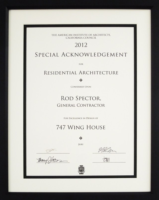 Certificate of Excellence in Design