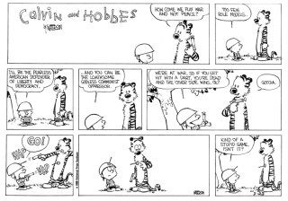Calvin and Hobbes learn MAD