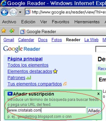 Lector RSS online feed internet reader web