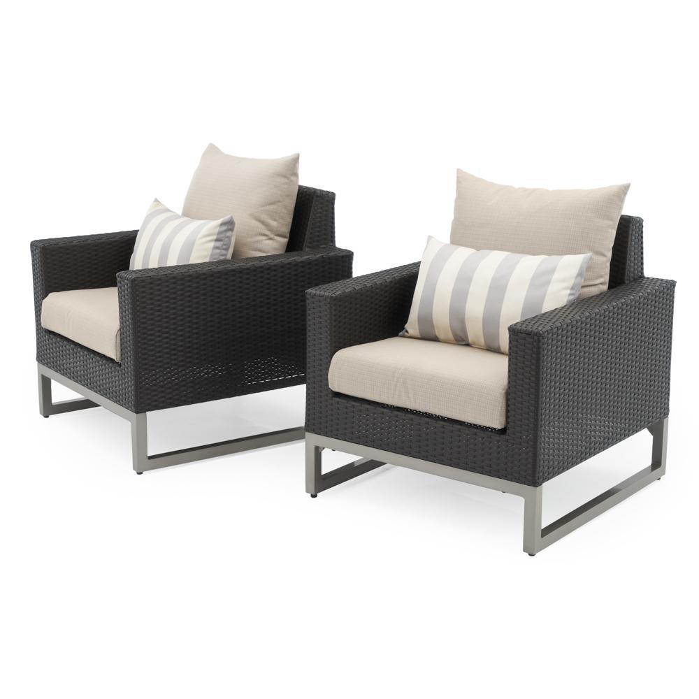 Milo Espresso Outdoor Club Chairs  Grey Club Chair