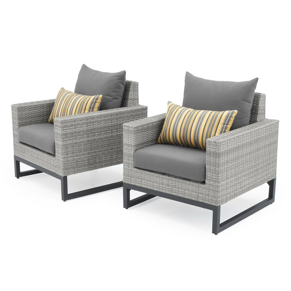 Milo Grey Outdoor Club Chairs  Grey Club Chair