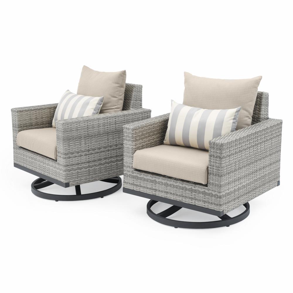 Milo Grey Outdoor Motion Club Chairs  Grey Club Chair