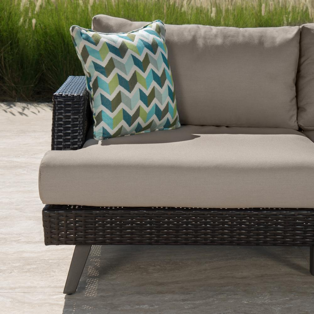 Portofino Casual 4pc Loveseat Group  Taupe Mist  RST Brands