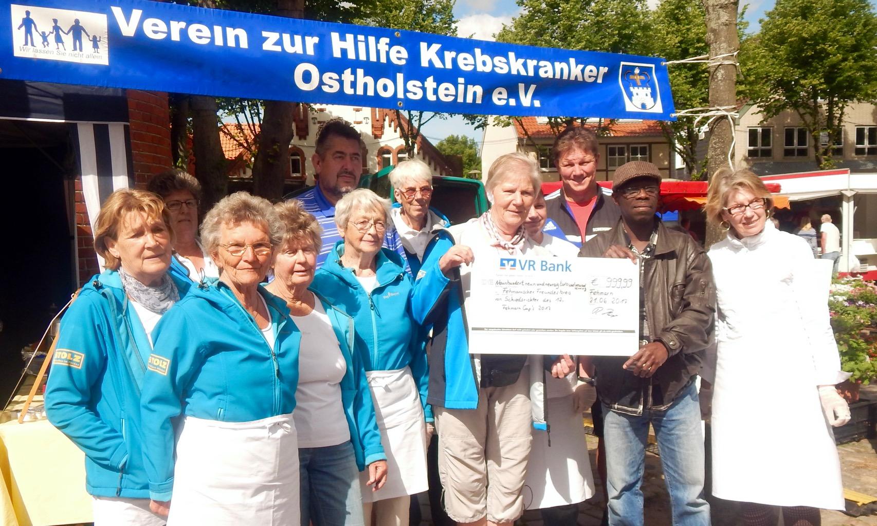 Fehmarner Freundeskreis erhielt Spende von 999,99 Euro