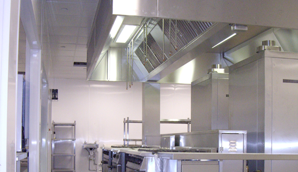 kitchen vents cottage style chairs case study - falkirk high school | r s ltd