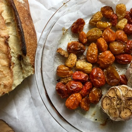 A Slow Roasted Tomato Appetizer